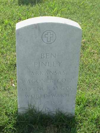 FINLEY (VETERAN WWI), BEN - Pulaski County, Arkansas   BEN FINLEY (VETERAN WWI) - Arkansas Gravestone Photos