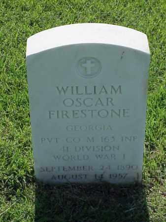 FIRESTONE (VETERAN WWI), WILLIAM OSCAR - Pulaski County, Arkansas | WILLIAM OSCAR FIRESTONE (VETERAN WWI) - Arkansas Gravestone Photos