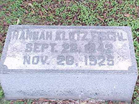FISCHL, HANNAH - Pulaski County, Arkansas   HANNAH FISCHL - Arkansas Gravestone Photos