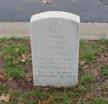 FISHER (VETERAN WWII), LEWIS GEORGE - Pulaski County, Arkansas | LEWIS GEORGE FISHER (VETERAN WWII) - Arkansas Gravestone Photos