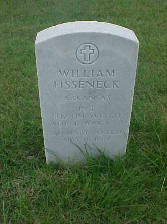 FISSENECK (VETERAN 2 WARS), WILLIAM - Pulaski County, Arkansas   WILLIAM FISSENECK (VETERAN 2 WARS) - Arkansas Gravestone Photos