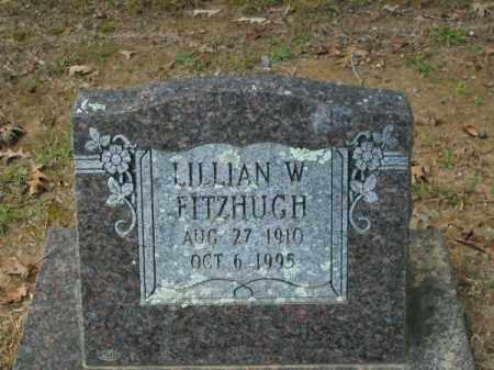 FITZHUGH, LILLIAN W - Pulaski County, Arkansas | LILLIAN W FITZHUGH - Arkansas Gravestone Photos