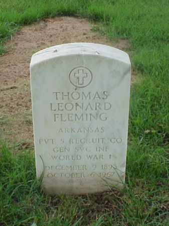 FLEMING (VETERAN WWI), THOMAS LEONARD - Pulaski County, Arkansas   THOMAS LEONARD FLEMING (VETERAN WWI) - Arkansas Gravestone Photos