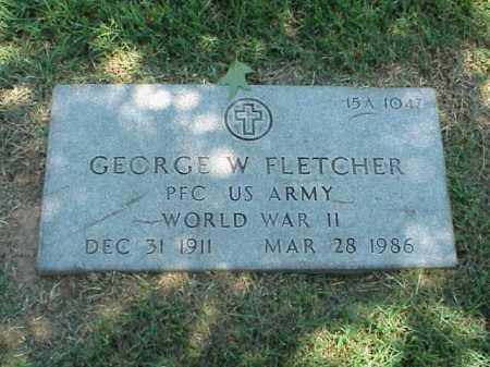 FLETCHER (VETERAN WWII), GEORGE W - Pulaski County, Arkansas | GEORGE W FLETCHER (VETERAN WWII) - Arkansas Gravestone Photos