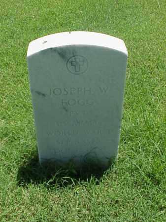 FOGG (VETERAN WWI), JOSEPH W - Pulaski County, Arkansas | JOSEPH W FOGG (VETERAN WWI) - Arkansas Gravestone Photos