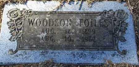 FOILES, WOODSON - Pulaski County, Arkansas   WOODSON FOILES - Arkansas Gravestone Photos