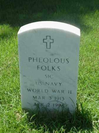 FOLKS (VETERAN WWII), PHEOLOUS - Pulaski County, Arkansas | PHEOLOUS FOLKS (VETERAN WWII) - Arkansas Gravestone Photos