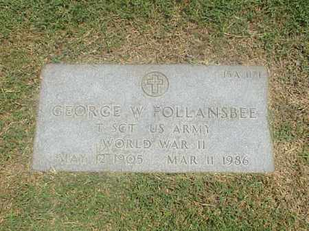 FOLLANSBEE (VETERAN WWII), GEORGE W - Pulaski County, Arkansas   GEORGE W FOLLANSBEE (VETERAN WWII) - Arkansas Gravestone Photos