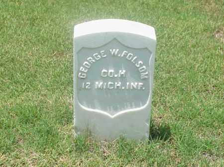 FOLSOM (VETERAN UNION), GEORGE  W - Pulaski County, Arkansas   GEORGE  W FOLSOM (VETERAN UNION) - Arkansas Gravestone Photos