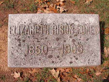 RISON FONES, ELIZABETH - Pulaski County, Arkansas   ELIZABETH RISON FONES - Arkansas Gravestone Photos