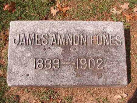 FONES, JAMES AMNON - Pulaski County, Arkansas | JAMES AMNON FONES - Arkansas Gravestone Photos