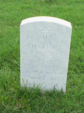FORD (VETERAN WWII), CHARLIE F - Pulaski County, Arkansas | CHARLIE F FORD (VETERAN WWII) - Arkansas Gravestone Photos