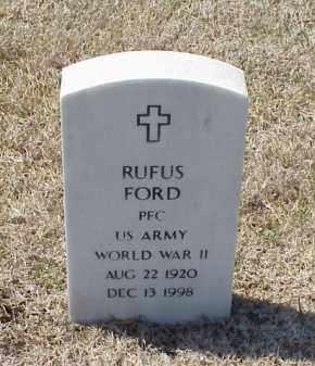 FORD (VETERAN WWII), RUFUS - Pulaski County, Arkansas | RUFUS FORD (VETERAN WWII) - Arkansas Gravestone Photos