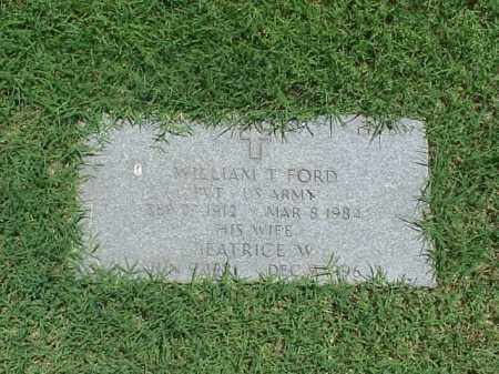 FORD (VETERAN WWII), WILLIAM T - Pulaski County, Arkansas | WILLIAM T FORD (VETERAN WWII) - Arkansas Gravestone Photos