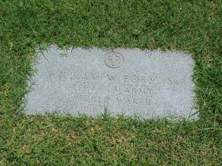 FORSE, SR (VETERAN WWII), WILLIAM W - Pulaski County, Arkansas | WILLIAM W FORSE, SR (VETERAN WWII) - Arkansas Gravestone Photos