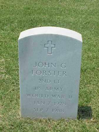 FORSTER (VETERAN WWII), JOHN G - Pulaski County, Arkansas | JOHN G FORSTER (VETERAN WWII) - Arkansas Gravestone Photos