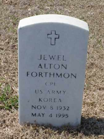 FORTHMON (VETERAN KOR), JEWEL ALTON - Pulaski County, Arkansas   JEWEL ALTON FORTHMON (VETERAN KOR) - Arkansas Gravestone Photos