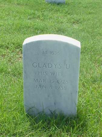 FOSTER, GLADYS U - Pulaski County, Arkansas   GLADYS U FOSTER - Arkansas Gravestone Photos