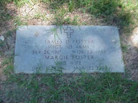 FOSTER (VETERAN 3 WARS), JAMES D - Pulaski County, Arkansas | JAMES D FOSTER (VETERAN 3 WARS) - Arkansas Gravestone Photos
