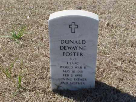 FOSTER (VETERAN WWII), DONALD DEWAYNE - Pulaski County, Arkansas | DONALD DEWAYNE FOSTER (VETERAN WWII) - Arkansas Gravestone Photos