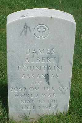 FOUNTAIN (VETERAN WWII), JAMES ALBERT - Pulaski County, Arkansas   JAMES ALBERT FOUNTAIN (VETERAN WWII) - Arkansas Gravestone Photos