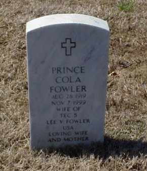 FOWLER, PRINCE COLA - Pulaski County, Arkansas | PRINCE COLA FOWLER - Arkansas Gravestone Photos