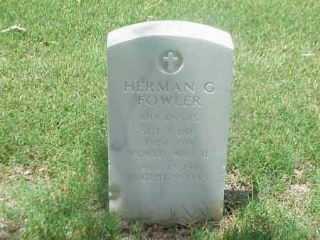 FOWLER (VETERAN WWII), HERMAN G - Pulaski County, Arkansas | HERMAN G FOWLER (VETERAN WWII) - Arkansas Gravestone Photos