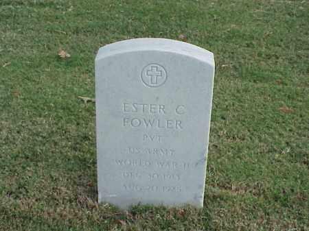 FOWLER (VETERAN WWII), ESTER C - Pulaski County, Arkansas | ESTER C FOWLER (VETERAN WWII) - Arkansas Gravestone Photos