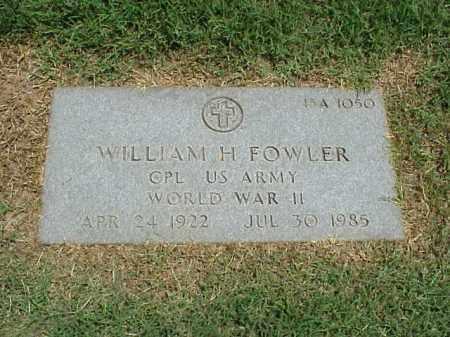 FOWLER (VETERAN WWII), WILLIAM H - Pulaski County, Arkansas | WILLIAM H FOWLER (VETERAN WWII) - Arkansas Gravestone Photos