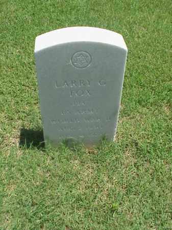 FOX (VETERAN WWII), LARRY G - Pulaski County, Arkansas | LARRY G FOX (VETERAN WWII) - Arkansas Gravestone Photos