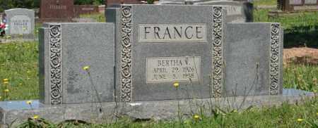 FRANCE, BERTHA V. - Pulaski County, Arkansas | BERTHA V. FRANCE - Arkansas Gravestone Photos