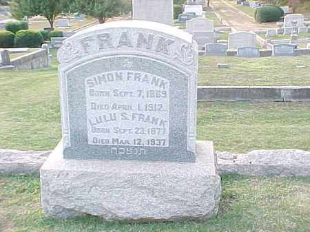 FRANK, LULU S - Pulaski County, Arkansas | LULU S FRANK - Arkansas Gravestone Photos