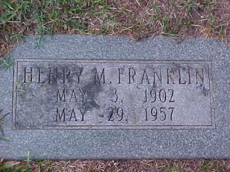 FRANKLIN, HENRY M - Pulaski County, Arkansas   HENRY M FRANKLIN - Arkansas Gravestone Photos