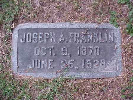 FRANKLIN, JOSEPH A - Pulaski County, Arkansas | JOSEPH A FRANKLIN - Arkansas Gravestone Photos