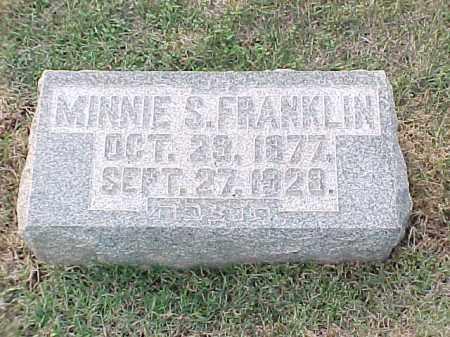 FRANKLIN, MINNIE S - Pulaski County, Arkansas | MINNIE S FRANKLIN - Arkansas Gravestone Photos