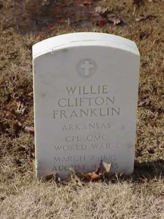 FRANKLIN (VETERAN WWI), WILLIE CLIFTON - Pulaski County, Arkansas | WILLIE CLIFTON FRANKLIN (VETERAN WWI) - Arkansas Gravestone Photos