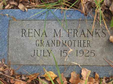 FRANKS, RENA M - Pulaski County, Arkansas | RENA M FRANKS - Arkansas Gravestone Photos