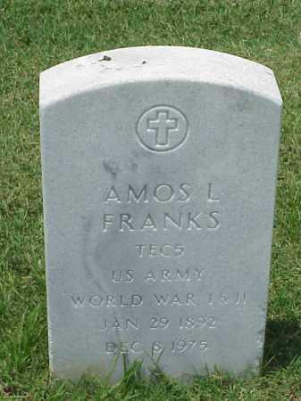 FRANKS (VETERAN 2 WARS), AMOS L - Pulaski County, Arkansas   AMOS L FRANKS (VETERAN 2 WARS) - Arkansas Gravestone Photos