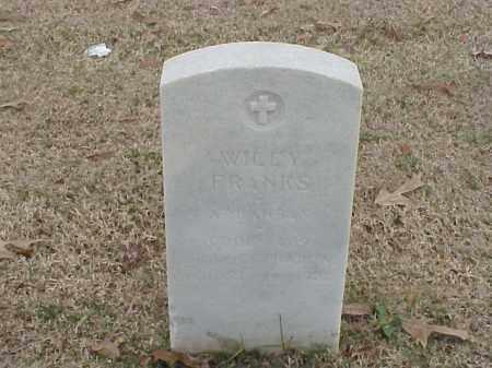 FRANKS (VETERAN WWI), WILEY - Pulaski County, Arkansas | WILEY FRANKS (VETERAN WWI) - Arkansas Gravestone Photos