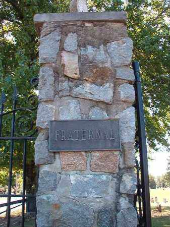 *FRATERNAL CEMETERY GATE,  - Pulaski County, Arkansas |  *FRATERNAL CEMETERY GATE - Arkansas Gravestone Photos