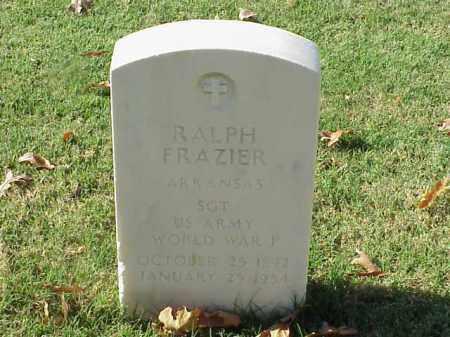 FRAZIER (VETERAN WWI), RALPH - Pulaski County, Arkansas   RALPH FRAZIER (VETERAN WWI) - Arkansas Gravestone Photos