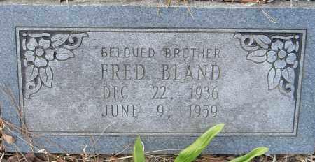 FRED, BLAND - Pulaski County, Arkansas | BLAND FRED - Arkansas Gravestone Photos