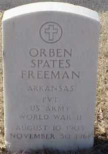 FREEMAN  (VETERAN WWII), ORBEN SPATES - Pulaski County, Arkansas | ORBEN SPATES FREEMAN  (VETERAN WWII) - Arkansas Gravestone Photos
