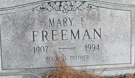 FREEMAN, MARY F - Pulaski County, Arkansas   MARY F FREEMAN - Arkansas Gravestone Photos