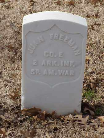 FREEMAN (VETERAN SAW), JUAN - Pulaski County, Arkansas | JUAN FREEMAN (VETERAN SAW) - Arkansas Gravestone Photos