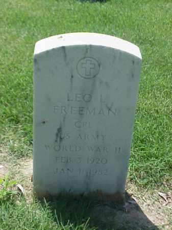 FREEMAN (VETERAN WWII), LEO L - Pulaski County, Arkansas | LEO L FREEMAN (VETERAN WWII) - Arkansas Gravestone Photos