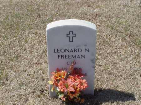 FREEMAN (VETERAN WWII), LEONARD N - Pulaski County, Arkansas | LEONARD N FREEMAN (VETERAN WWII) - Arkansas Gravestone Photos