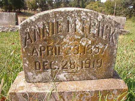 FRICK, ANNIE M - Pulaski County, Arkansas   ANNIE M FRICK - Arkansas Gravestone Photos