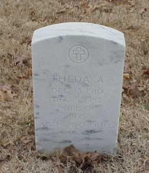 FRIEG, THEDA A - Pulaski County, Arkansas   THEDA A FRIEG - Arkansas Gravestone Photos