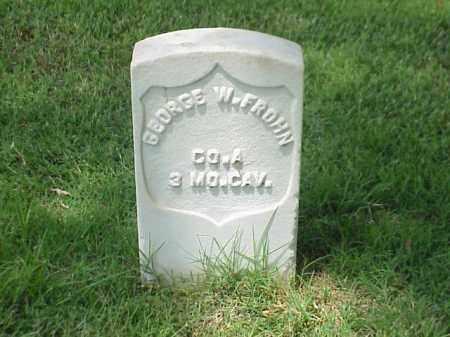 FROHN (VETERAN UNION), GEORGE W - Pulaski County, Arkansas   GEORGE W FROHN (VETERAN UNION) - Arkansas Gravestone Photos